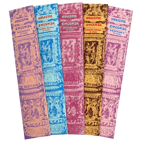 Holistic incense 5-pack, 5x10 pcs.