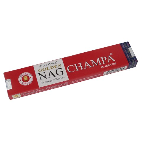 Golden Nag Champa incense, 15 g.