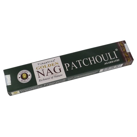 Golden Nag Patchouli incense, 15 g.