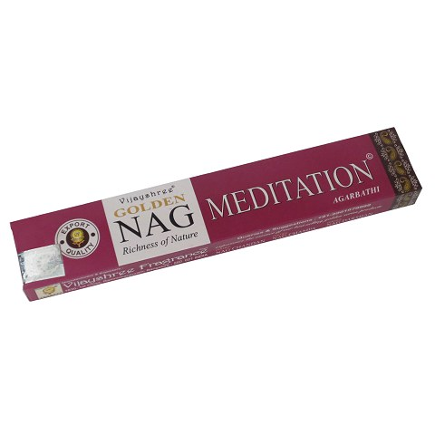 Golden Nag Meditation incense, 15 g.