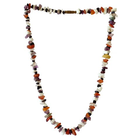 Necklace multicolour stone