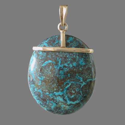 Pendant (silver and chrysocolla)