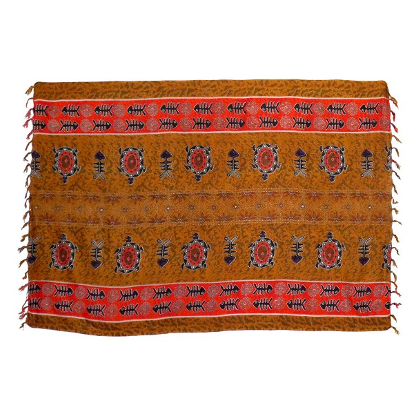 Sarong modern, brown / red