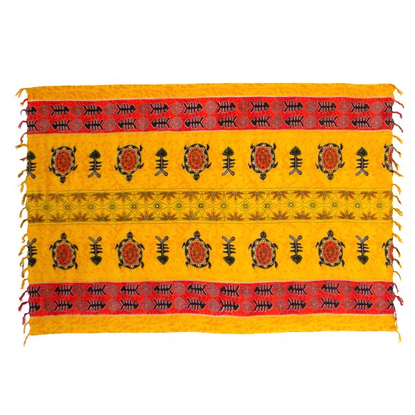 Sarong modern, yellow ochre / red