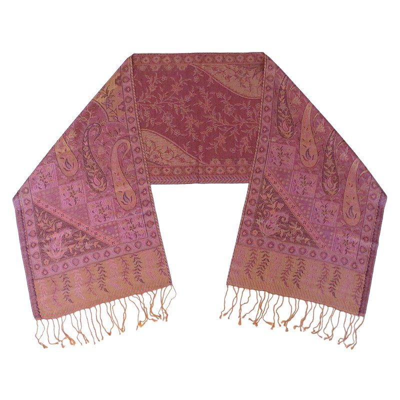 Silk scarf (soft violet red)
