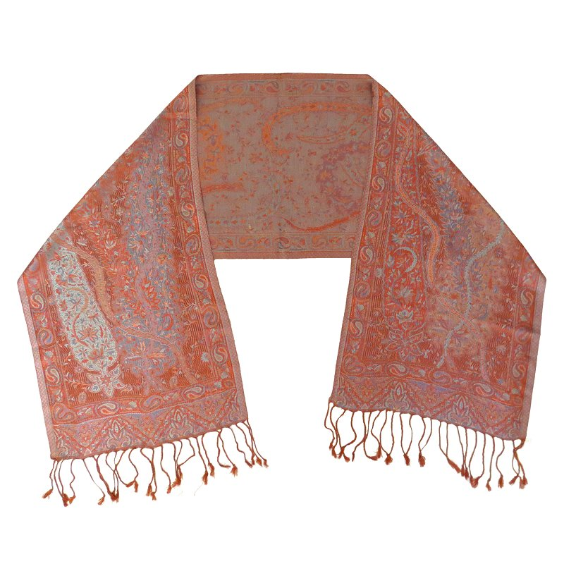 Silk scarf (orange-brown)