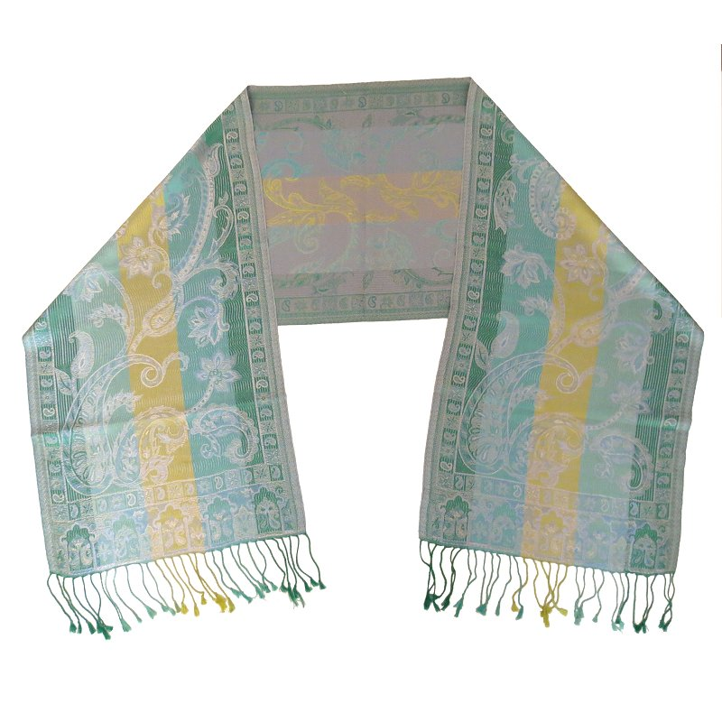 Silk scarf (sea green)