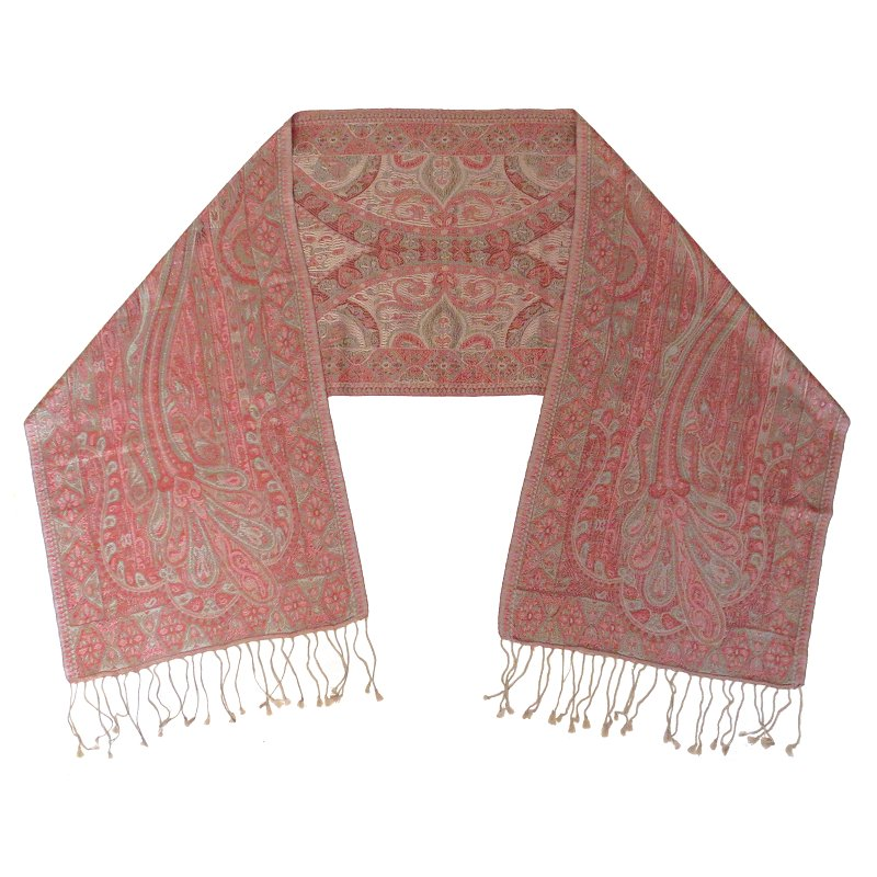 Silk scarf (indian red)