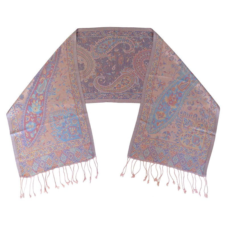 Silk scarf (pinkbrown)