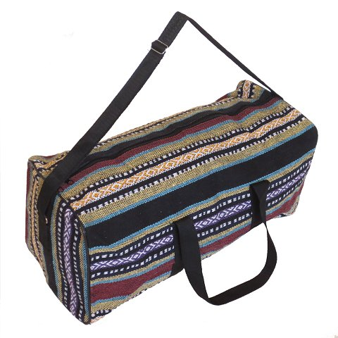Embroidery weekend/travel bag (black and multi-colour)