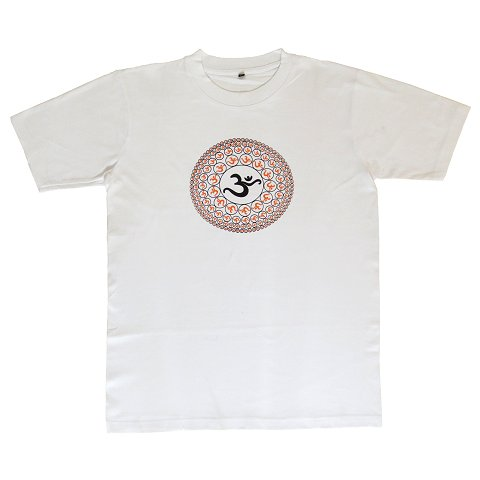 T-shirt with Aum print, white