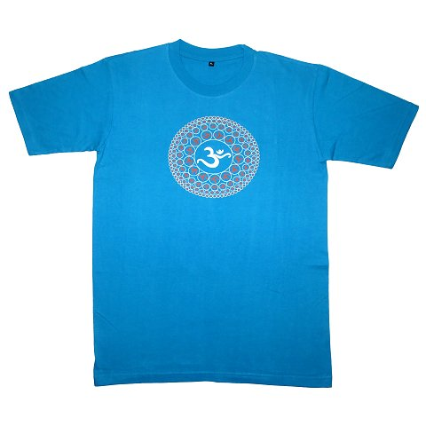 T-shirt with Aum print, blue