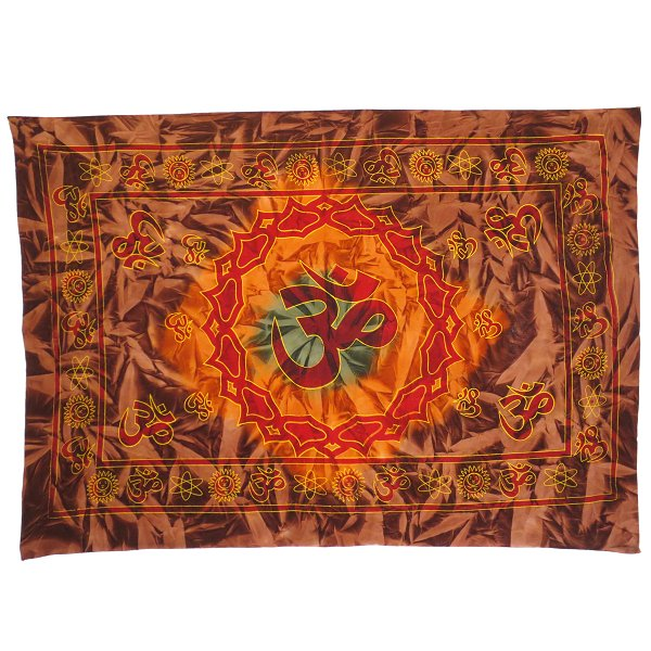 Tapestry Aum, large, red-brown